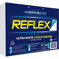REFLEX A4 ULTRA WHITE COPY PAPER 2 HOLE PUNCHED 80GSM WHITE PACK 500 SHEETS