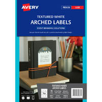AVERY 980036 L7140 EVENT LABELS ARCHED TEXTURED LABEL 57.2 X 77MM 9UP PACK 10
