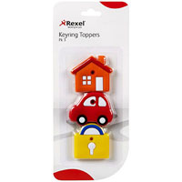 REXEL KEY TOPPERS DESIGN ASSORTED PACK 3