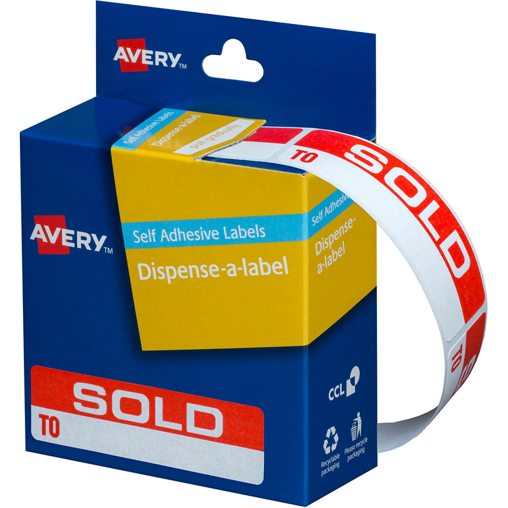 Avery 937253 Message Labels Sold To 19 X 64mm Box 125