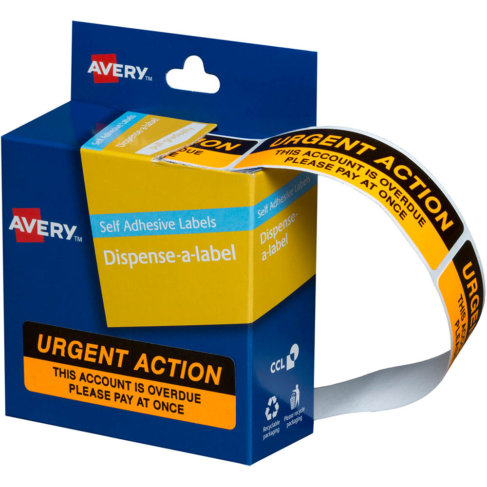 Image For Avery 937259 Message Labels Urgent Action 19 X 64mm Box 125 From Aztec Office