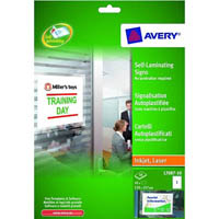 AVERY 959175 L7087 SELF LAMINATING SIGN 170 X 257MM WHITE PACK 10