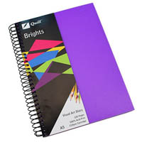 QUILL VISUAL ART DIARY 110GSM 120 PAGE A5 PP DARK PURPLE