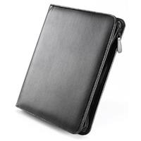 FALCON LEATHER ZIP CONFERENCE FOLDER