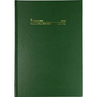 COLLINS 2020-2021 FINANCIAL YEAR DIARY DAY TO PAGE 1 HOUR A4 GREEN