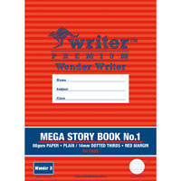 WRITER PREMIUM MEGA STORY BOOK NO.1 DOTTED THIRDS 14MM 80GSM 64 PAGE 330 X 240MM WONDER 3