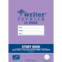 WRITER PREMIUM STORY BOOK PLAIN/DOTTED THIRDS 18MM 100GSM 64 PAGE 330 X 240MM PENCIL