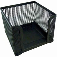 ESSELTE MEMO CUBE HOLDER METAL MESH BLACK
