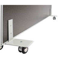RAPID SCREEN FREESTANDING FOOT WITH CASTORS SILVER