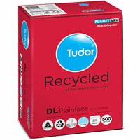 TUDOR DL ENVELOPES 60% RECYCLED PLAINFACE SECRETIVE PEAL N SEAL 110 X 220MM WHITE BOX 500